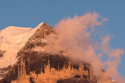 Alpine Sunset on Jungfraujoch