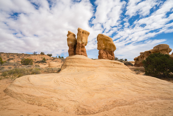 Hoodoos beneath Clouds