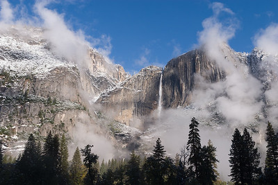 Rising Clouds in Clearing Snowstorm, Yosemite.