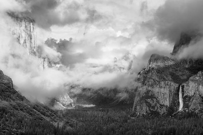 Storm Clouds over Yosemite Valley