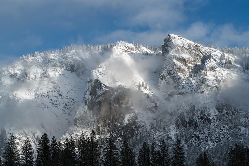 Snow on Yosemite's Mountains
