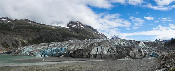 Reid Glacier in Panorama View.