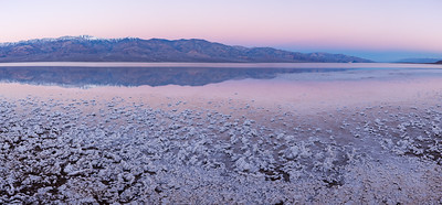 Dawn over Badwater, Death Valley.