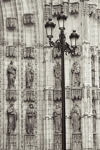 Carved Cathedral and Lamppost.