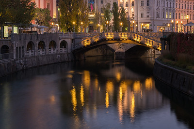 Twilight along the River, Ljubljana