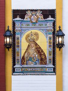 Religious Ceramic Tile wall mural, Seville.