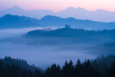Foggy Dawn in Skofja.