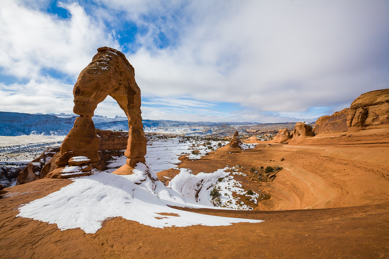 Winter Wonderland at Delicate Arch