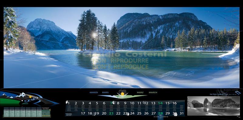 Marzo<br /> Lago del Predil<br /> Alpi Giulie<br /> ITALY