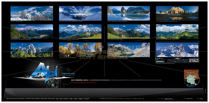 Calendario Alpi orientali e Dolomiti 2010 (retrocopertina)