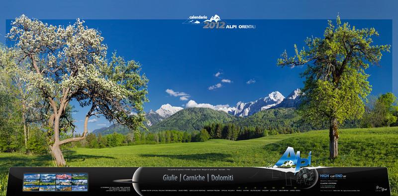 Copertina del Calendario Alpi orientali 2012