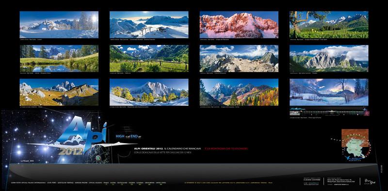 Retrocopertina del Calendario Alpi orientali 2012