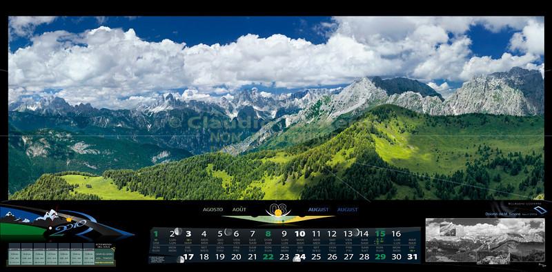 Agosto<br /> Le Dolomiti viste dal monte Simone, Forni di Sopra<br /> ITALIA