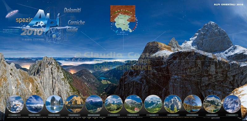 Calendario Alpi orientali e Dolomiti 2010 (copertina)