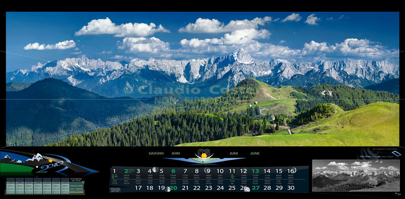 Giugno<br /> Ampia vista sulle Alpi Giulie dal monte Osternig<br /> ITALIA