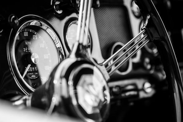 MG classic car details.