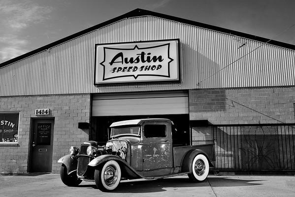 Austin Speed Shop Prints