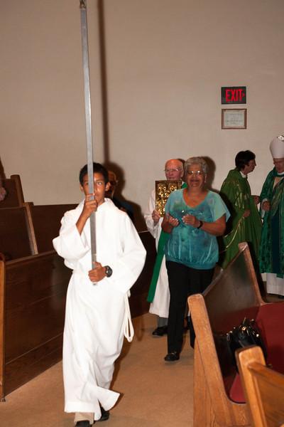 Welcoming Mass with Bishop - 9/15/2013 - Nancy Kay Lyons