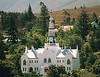 The picturesque church in the center of Swellendam along the Garden route in South Africa 3hrs drive from Cape Town.