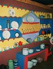 A local African kitchen made of clay and hand painted in a museum village in South Africa
