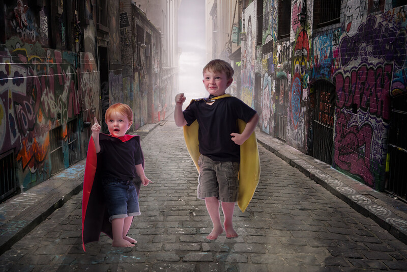 THE SUPER HEROES HAVE COME TO SAVE THE DAY!