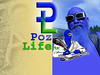 POZ LIFE logo embossed CHISEL sharp and green heart and blue man for web 1600 wide