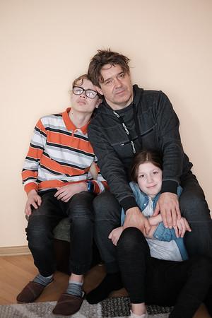Tosia, Stas, i wujek Grzegorz, Starachowice, Poland