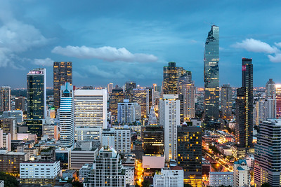 Cityscape of Silom, Sathorn & Samyan