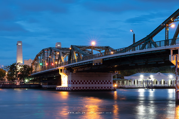 Memorial Bridge and the Chao Phraya River