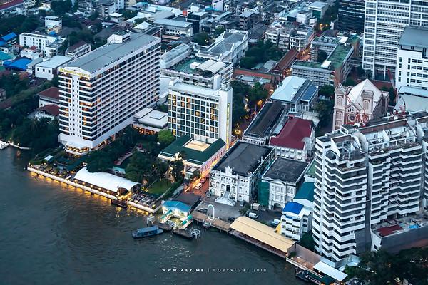 Mandarin Oriental Hotel, Bangkok view from the River Condominium
