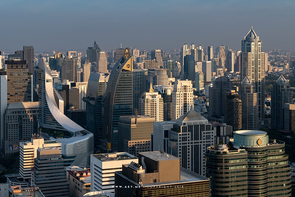 Ploenchit, Chit Lom, Lung Suan view from Red Sky, Central World