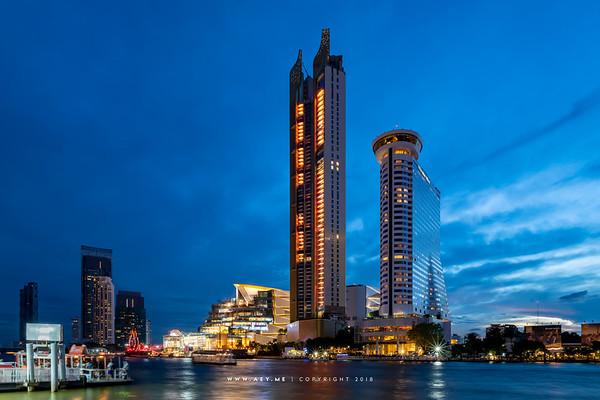 The ICON SIAM and the Millennium Hilton Hotel