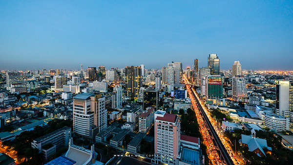 Twilight at Sathorn Road