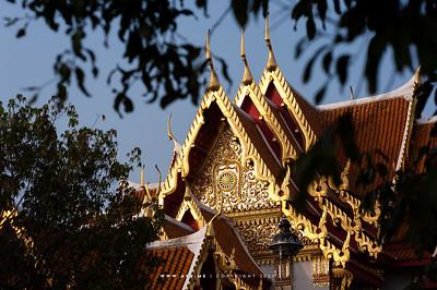 Thammachak (Wheel of Life), South Pediment,  Phra Ubosot, Wat Benchamabophit