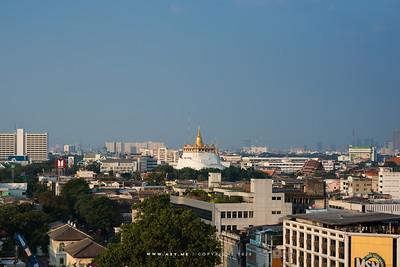 Phukhao Thong, Wat Saket view from Mega Plaza
