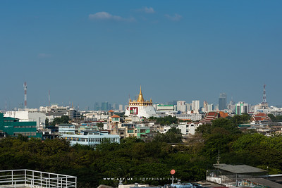 Phukhao Thong, Wat Saket  view from The Old Siam Plaza