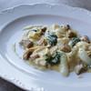 Равиолини с сыром робеола и белыми грибами