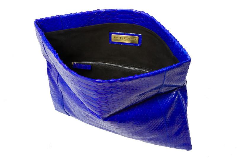 "Katja Tamara Python Leather Clutch, <a href=""http://www.katjatamara.com"">http://www.katjatamara.com</a>"