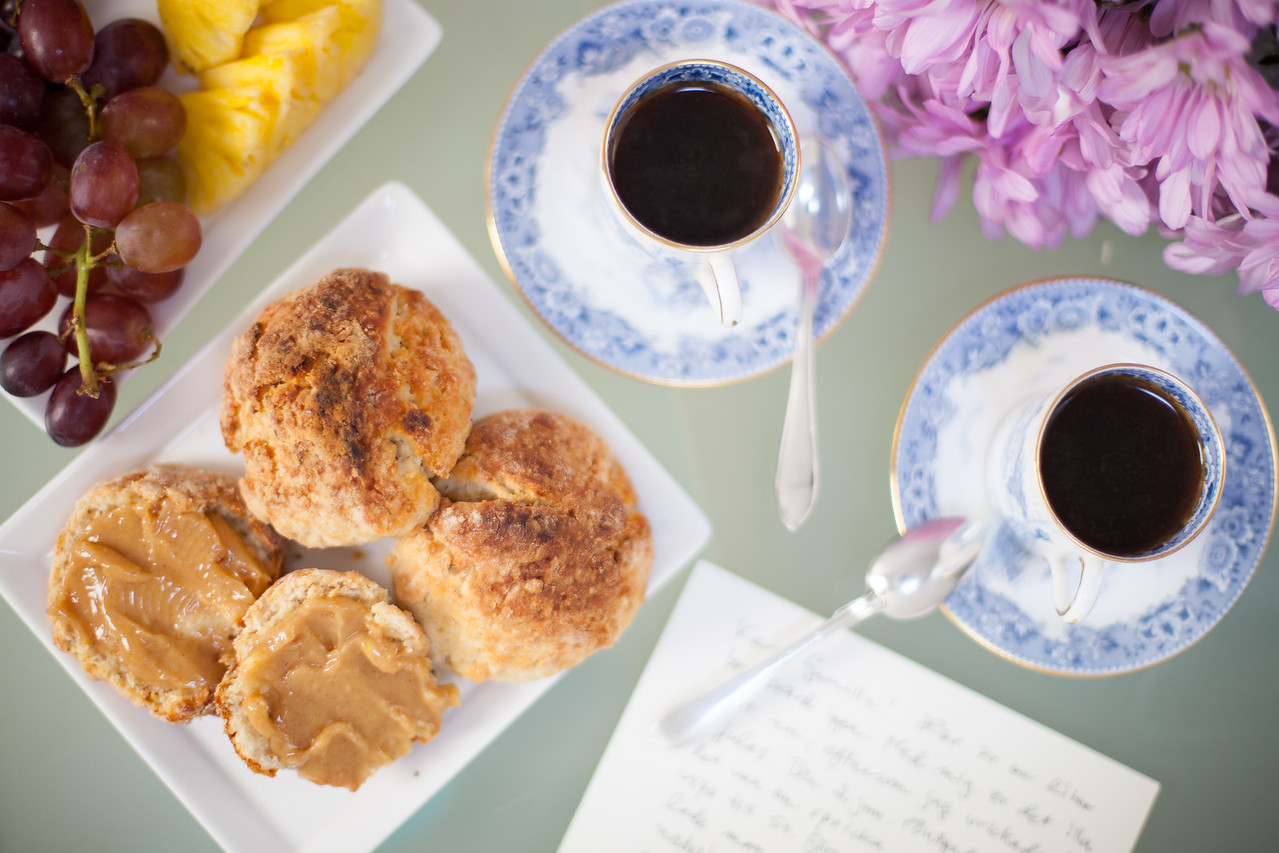 QUTN, Breakfast in Bed: Cardamon Scones.