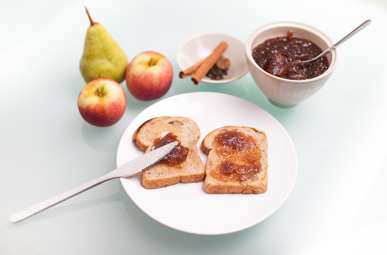 QUTN, Breakfast in Bed: Apple and Pear Butter on Toast.