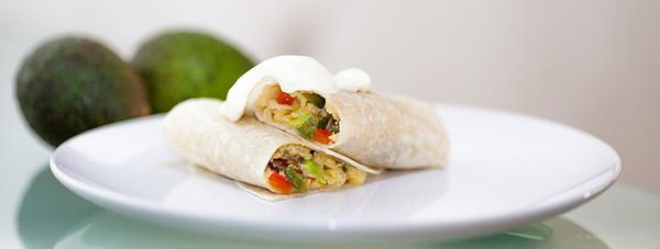 QUTN, Breakfast in Bed: Avocado Breakfast Burrito.