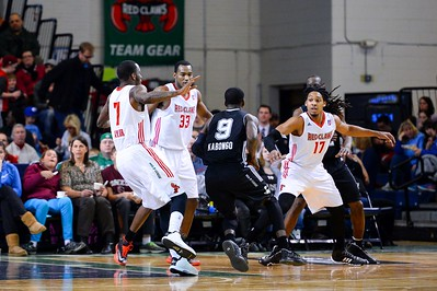 Maine Red Claws NBA D Basketball 2013-14 regular season contest against the Austin Toros on 3/2/2014. Portland Exposition Building, Portland, Maine, USA. Photo: Michael McSweeney.