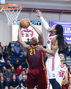 Maine Red Claws NBA D Basketball 2013-14 regular season contest against the Canton Charge on 2/28/2014. Portland Exposition Building, Portland, Maine, USA. Photo: Michael McSweeney.
