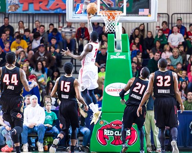 Maine Red Claws NBA D Basketball 2013-14 regular season contest against the Erie BayHawks on 3/16/2014. Portland Exposition Building, Portland, Maine, USA. Photo: Michael McSweeney.