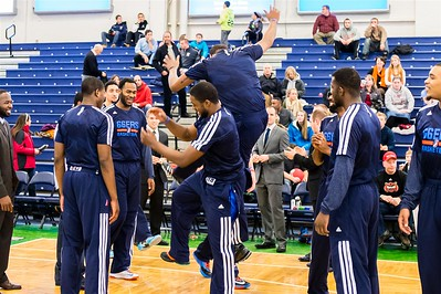 Maine Red Claws NBA D Basketball 2013-14 regular season contest against the Tulsa 66ers on 1/2/2014. Portland Exposition Building, Portland, Maine, USA. Photo: Michael McSweeney.