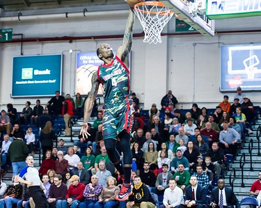 Maine Red Claws NBA D Basketball 2013-14 regular season contest against the Fort Wayne Mad Ants on 3/6/2014. Portland Exposition Building, Portland, Maine, USA. Photo: Michael McSweeney.