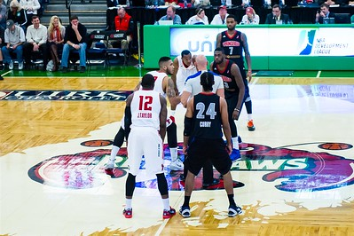 Maine Red Claws NBA D Basketball 2013-14 season home opener. Portland Exposition Building, Portland, Maine, USA. Photo: Michael McSweeney.