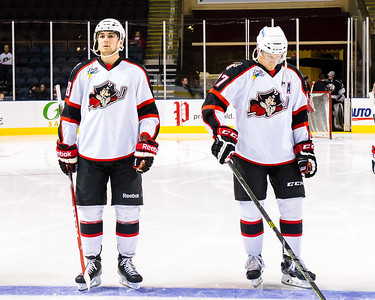 Portland Pirates vs. Manchester Monarchs in VIP Cup action at the Cross Insurance Arena in Portland, Maine on 12/5/2014. (Photo by Michael McSweeney/Portland Pirates)