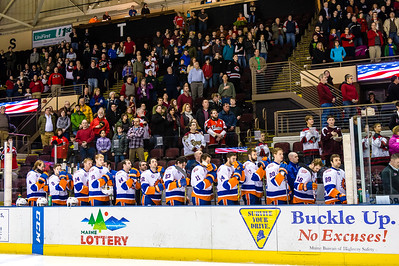 Portland Pirates vs. Bridgeport Sound Tigers at the Cross Insurance Arena in Portland, Maine on 1/9/2015. (Photo by Michael McSweeney/Portland Pirates)