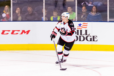 Patrick McNeill#20(D) of the Portland Pirates. Portland Pirates 2014-15 season opener vs the Providence Bruins at the Cross Insurance Arena in Portland, Maine on 10/11/2014. (Photo by Michael McSweeney/Portland Pirates)